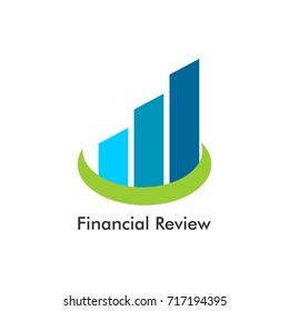 Financial Review Logo Vector Template Design