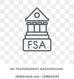 Financial Services Authority icon. Financial Services Authority design concept from Financial Services Authority collection. Simple element vector illustration on transparent background.