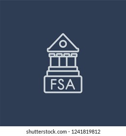 Financial Services Authority icon. Financial Services Authority linear design concept from Financial Services Authority collection. Simple element vector illustration on dark blue background.