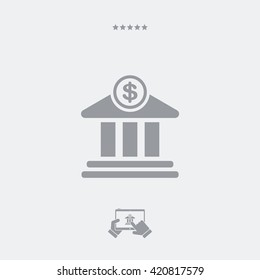 Financial services flat icon