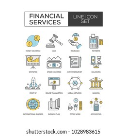 Financial Services Icon Set