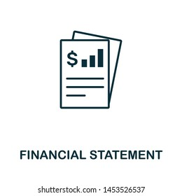 Financial Statement vector icon illustration. Creative sign from investment icons collection. Filled flat Financial Statement icon for computer and mobile. Symbol, logo vector graphics.
