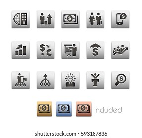 Financial Strategies Icons - The vector file includes 4 color versions for each icon in different layers.