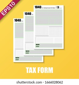 Financial Wealth Concept-Tax time mockup IRS 1040 Tax form