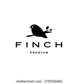 finch bird logo vector icon illustration