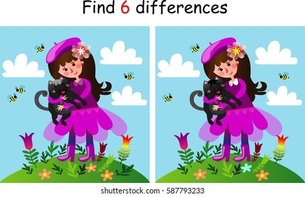 Find 3 differences , vector space