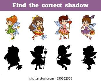 Find the correct shadow: little fairies