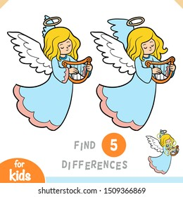 Find differences, educational game for children, Angel