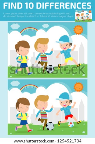 Brain Differences Seen In Children With >> Find Differences Game Kids Find Differences Stock Vector Royalty