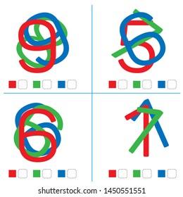 Find the hidden number. Vector