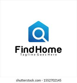 Find Home logo design template