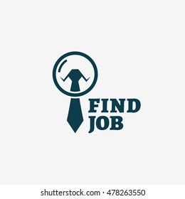 Find job logo template design. Vector illustration.