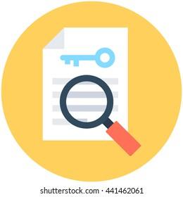 Find Keyword Vector Icon