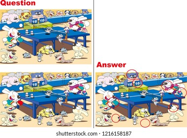 Find a mistake quiz _ table tennis