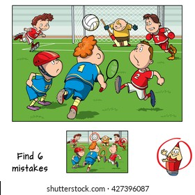 Find mistakes. Educational game for children. Vector illustration