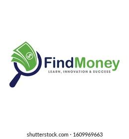 Find Money logo, money search logo Vector