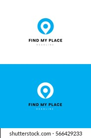 Find my place logo template.