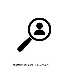 find people icon. Human search icon vector