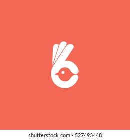 Finder bird vector, Bird logo
