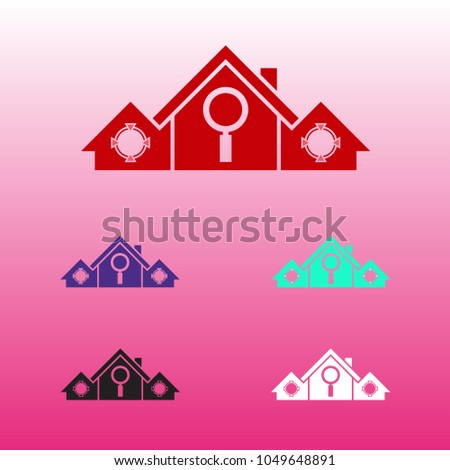 Finding Home Location Logo Template Stock Vector Royalty Free