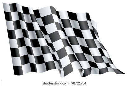 Fine 3d image of classic checked start flag