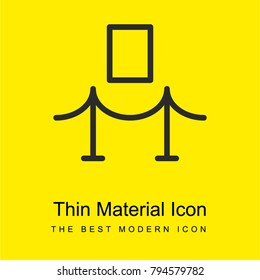 Fine art piece of a museum bright yellow material minimal icon or logo design