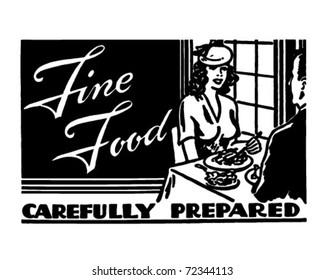Fine Food 2 - Retro Ad Art Banner