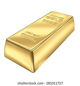 Fine Gold bank bar vector illustration EPS 8.