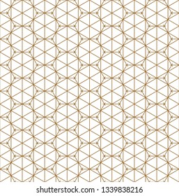 Fine seamless japanese pattern kumiko for shoji screen.Great design for any purposes. Japanese pattern background vector. Japanese traditional wall, shoji.Average thickness lines.