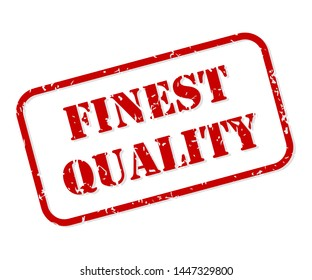 Finest quality red rubber stamp vector isolated