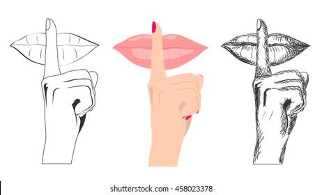 Finger asking for silence