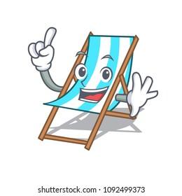 Finger beach chair mascot cartoon