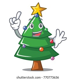 Finger Christmas tree character cartoon
