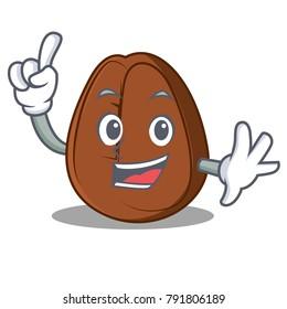 Finger coffee bean mascot cartoon
