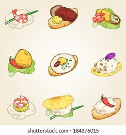 finger foods set