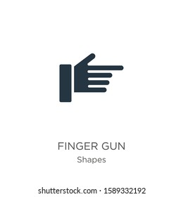 Finger gun icon vector. Trendy flat finger gun icon from shapes collection isolated on white background. Vector illustration can be used for web and mobile graphic design, logo, eps10