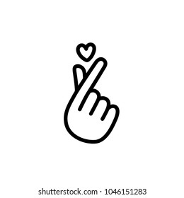 finger hearts icon vector illustration