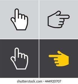 finger icon, hand, finger pointing, pointer