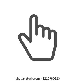 Finger icon vector
