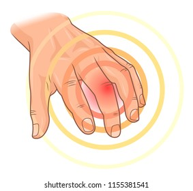 Finger pain illustration
