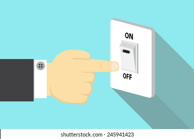 Finger pressing off switch