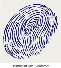 Finger print. Doodle style