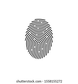 finger print fingerprint lock secure security logo vector icon illustration