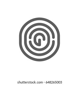 Finger print icon in trendy flat style isolated on white background. Symbol for your web site design, logo, app, UI. Vector illustration, EPS