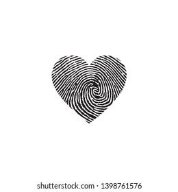 Finger Print Icon Vector Logo Template