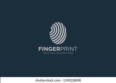 finger print logo, icon, symbol design template