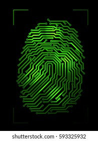 Finger print made from printed circuit