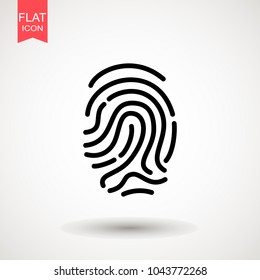 Finger print vector, icon, logo. isolated on white background, eps10. Flat vector illustration for web site or mobile app. vector illustration
