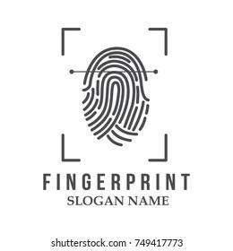 Finger print work business vector logo name design illustration