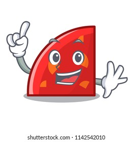 Finger quadrant mascot cartoon style